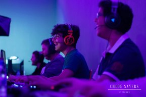 Gamers during a tournament, Ajyal. December, 2018